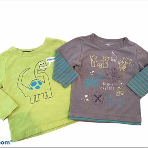 ✨3 for $30✨2T Boys Long Sleeve Graphic Tees Bundle